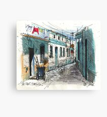 Quiet sidestreet, Ferragudo, Portugal Canvas Print