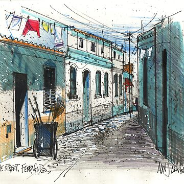 Quiet sidestreet, Ferragudo, Portugal by MrCreator