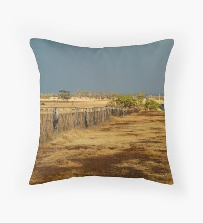 Country Road,Rural Geelong Throw Pillow