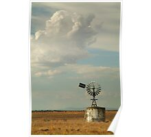 Windmill,Rural Geelong Poster