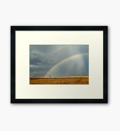 Rain and Rainbows,Rural Geelong Framed Print