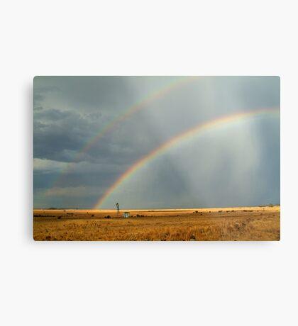 Rain and Rainbows,Rural Geelong Metal Print