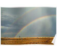 Rain and Rainbows,Rural Geelong Poster