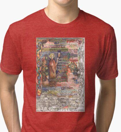 St. Aidan of Lindisfarne Tri-blend T-Shirt