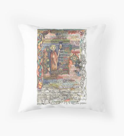 St. Aidan of Lindisfarne Throw Pillow