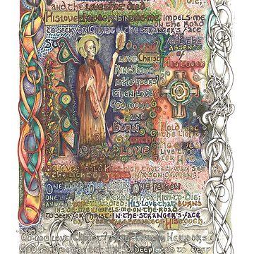 St. Aidan of Lindisfarne by lindscriptorium