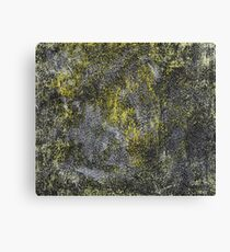 Black and White Ink on Yellow Background Canvas Print