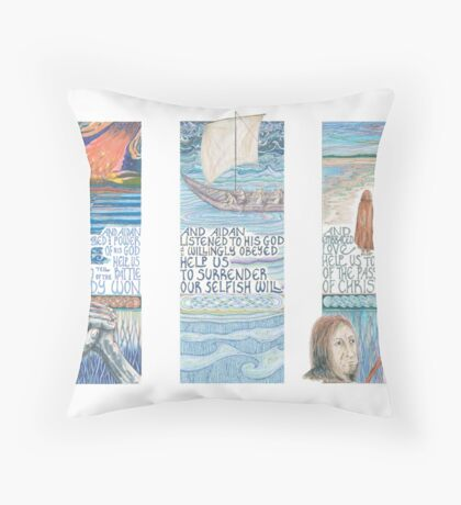 Stories of St. Aidan Throw Pillow