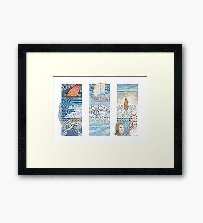 Stories of St. Aidan Framed Print