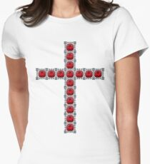 October Ruby Cross Women's Fitted T-Shirt
