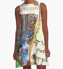 Der Ehrwürdige Bede A-Linien Kleid
