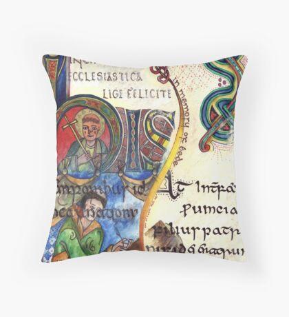 The Venerable Bede Throw Pillow