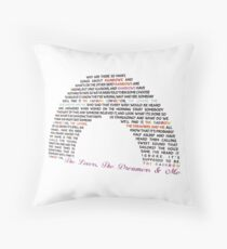 The Rainbow Connection Throw Pillow