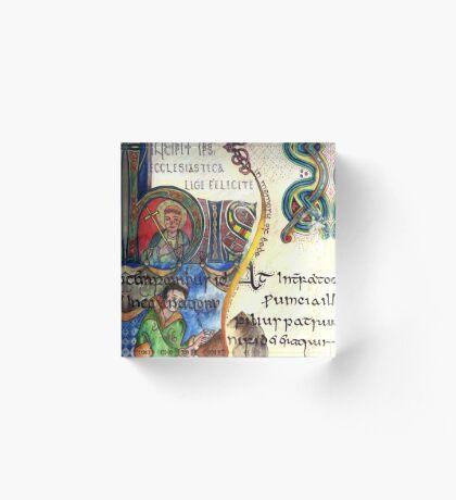 The Venerable Bede Acrylic Block