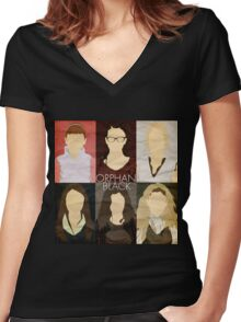 Orphan Black - Minimalist #1 Women's Fitted V-Neck T-Shirt