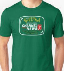 April O'Neil on Channel 6 News Unisex T-Shirt