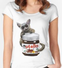 Sweet aim // galago and nutella Women's Fitted Scoop T-Shirt