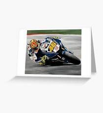 Valentino Rossi Yamaha  Greeting Card