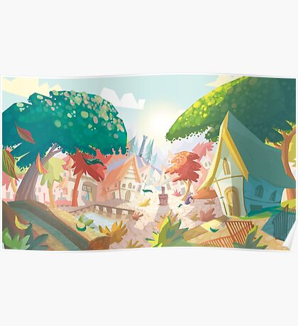 Landscape fairytale Poster