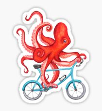 Cycling octopus Sticker