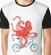 Cycling octopus Graphic T-Shirt