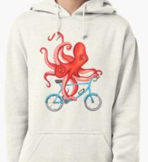 Cycling octopus Pullover Hoodie