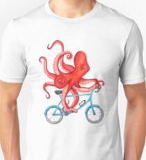 Cycling octopus Unisex T-Shirt