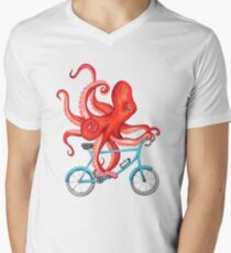 Cycling octopus Men's V-Neck T-Shirt