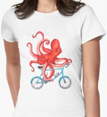 Cycling octopus Women's Fitted T-Shirt