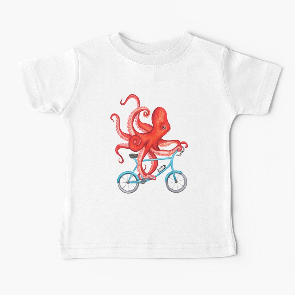 Cycling octopus Baby T-Shirt