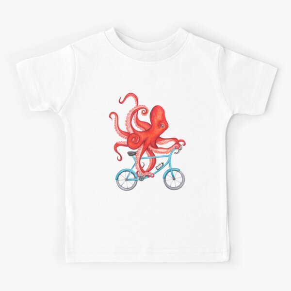 Cycling octopus Kids T-Shirt