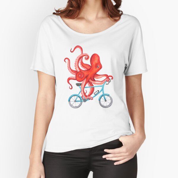 Cycling octopus Relaxed Fit T-Shirt