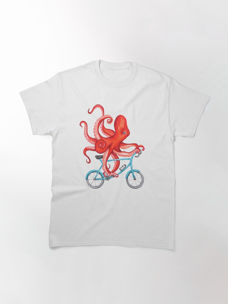 Alternate view of Cycling octopus Classic T-Shirt