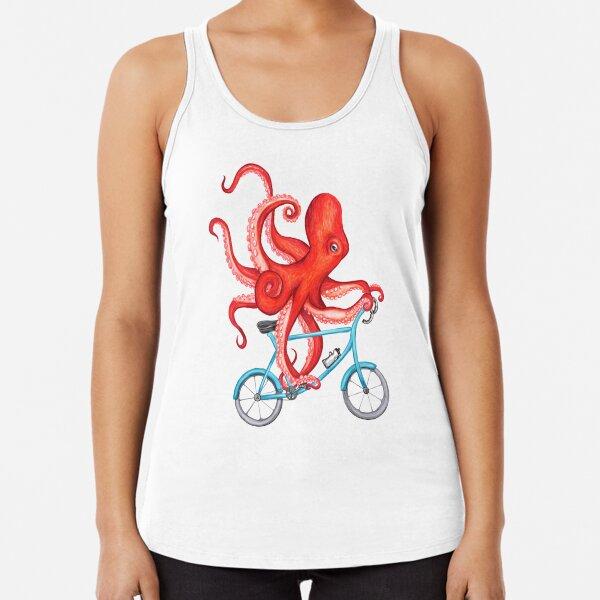 Cycling octopus Racerback Tank Top
