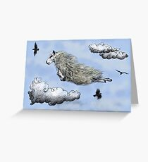 Flying sheep Greeting Card