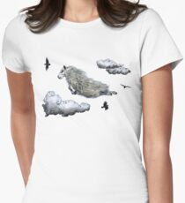 Flying sheep Women's Fitted T-Shirt