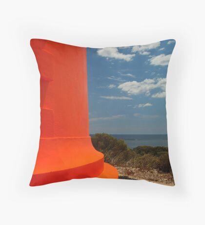 Red Lighthouse Carpenter Rocks S.A. Throw Pillow