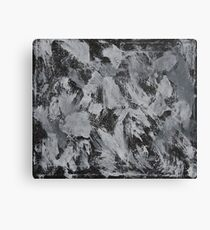 White Ink on Black Background #3 Canvas Print