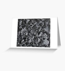 White Ink on Black Background #4 Greeting Card