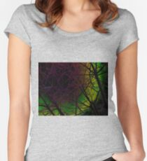Colorful Bough Design Women's Fitted Scoop T-Shirt
