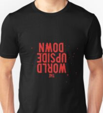 The World is turning Upside Down - Red Unisex T-Shirt