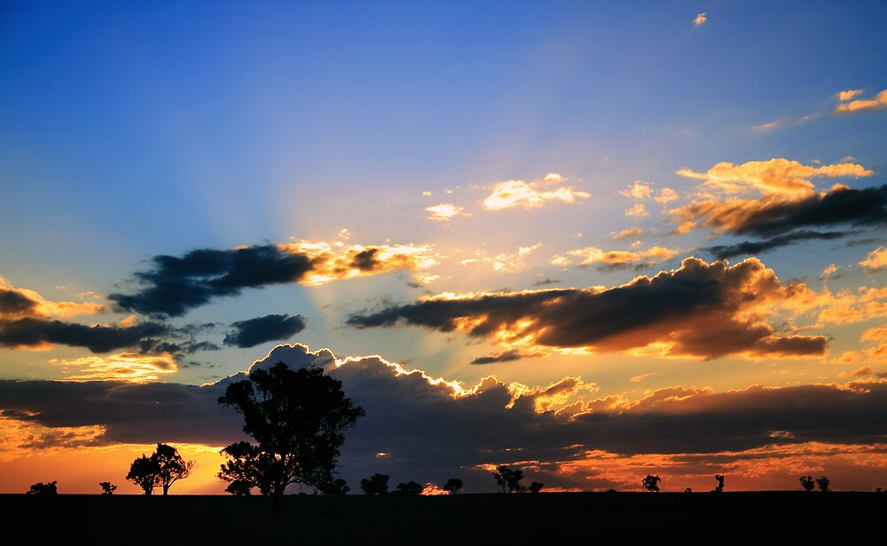 Outback Sunset by David Haviland