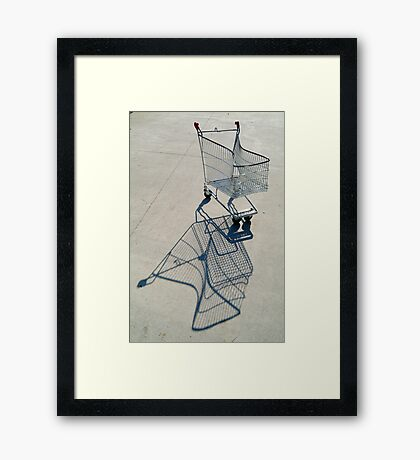 Shopping Trolly,Grovedale Geelong Framed Print