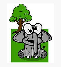 Goofy Cartoon Elephant Photographic Print