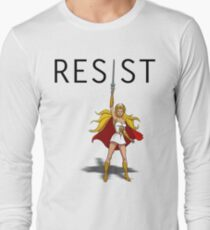 "She-Ra says ""RESIST"" Long Sleeve T-Shirt"