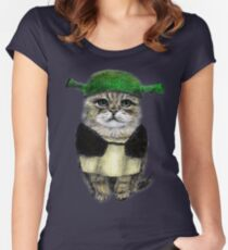 My owner is an IDIOT Women's Fitted Scoop T-Shirt
