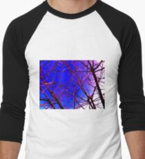 Colorful Red and Blue Bough Design T-Shirt