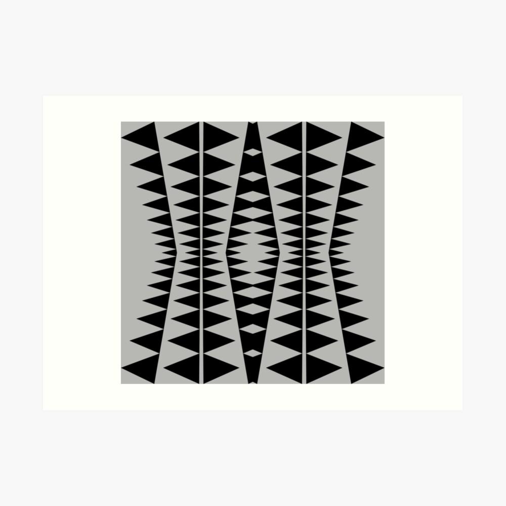 Black and Gray Modern Design by Julie Everhart Art Print