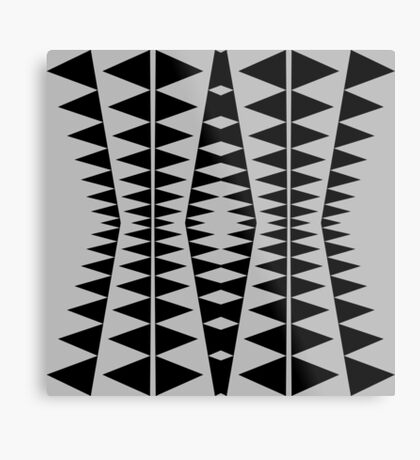 Black and Gray Modern Design by Julie Everhart Metal Print