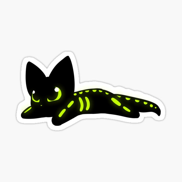 Kitty - Glow In The Dark Skelly Sticker